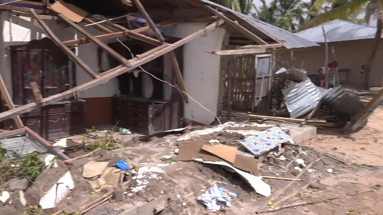 No building was left untouched in the town of Macomia