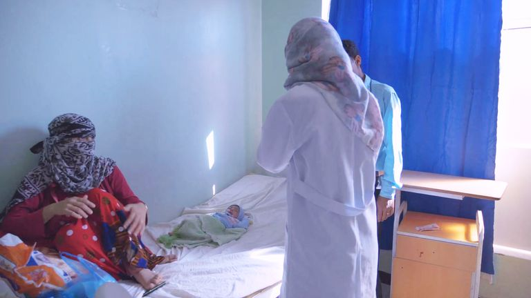 A doctor talks to a new mother. Pic: MSF