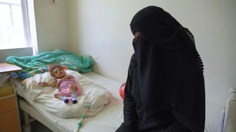 A mother and a newborn in Yemen. Pic: MSF