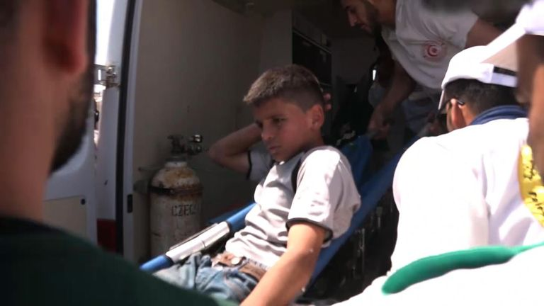 Up to 50 people, including children, have been injured in protests at the Gaza border