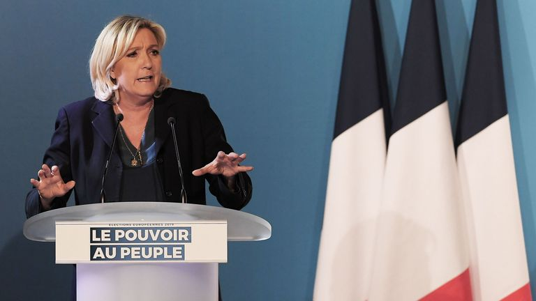 Marine Le Pen declares victory over Macron