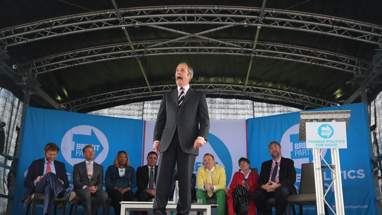 The Brexit Party's message is simple and familiar: they took your country from you, now they've taken your democracy too