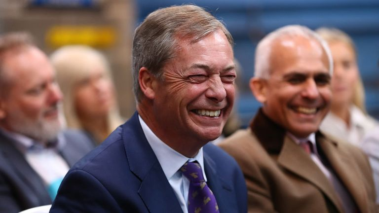 Nigel Farage's Brexit Party spent less money than Change UK but won more votes