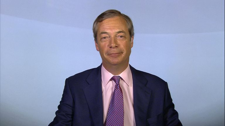 "Nigel Farage says the Brexit Party ""will absolutely stun"" the main parties in a general election."
