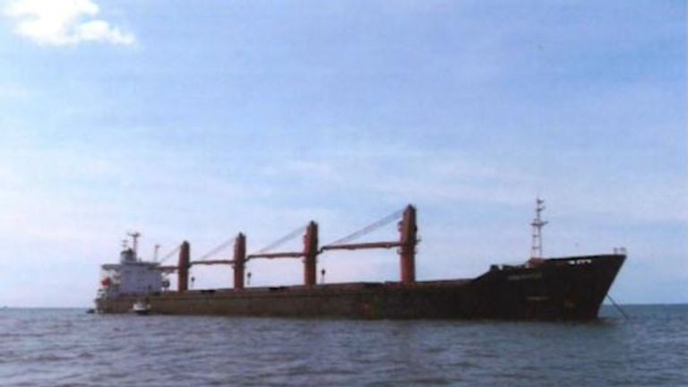 The US said it had seized a North Korean cargo ship - the Wise Honest