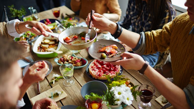 Families are encouraged to eat together at meal times