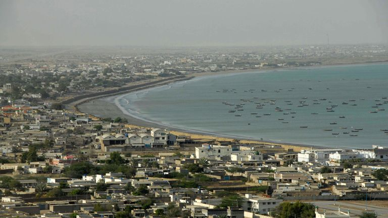 The gunmen entered the hotel in the port city of Gwadar
