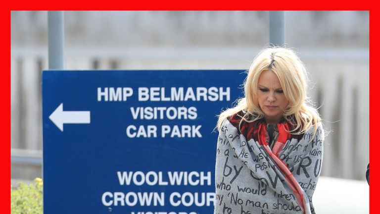 Pamela Anderson visits Julian Assange at Belmarsh prison