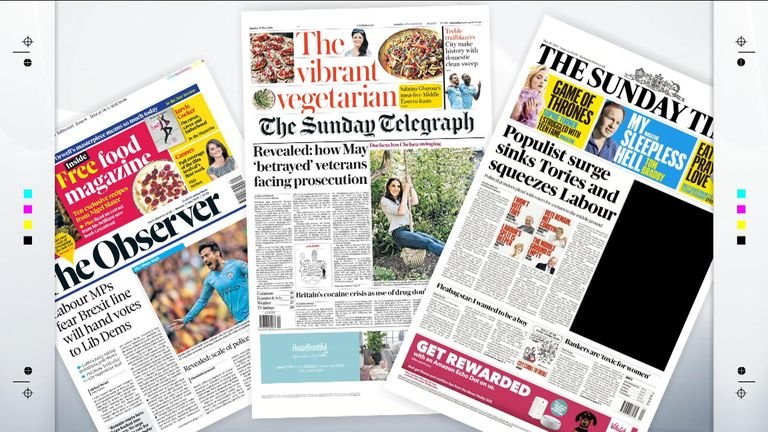 sunday papers with sky news