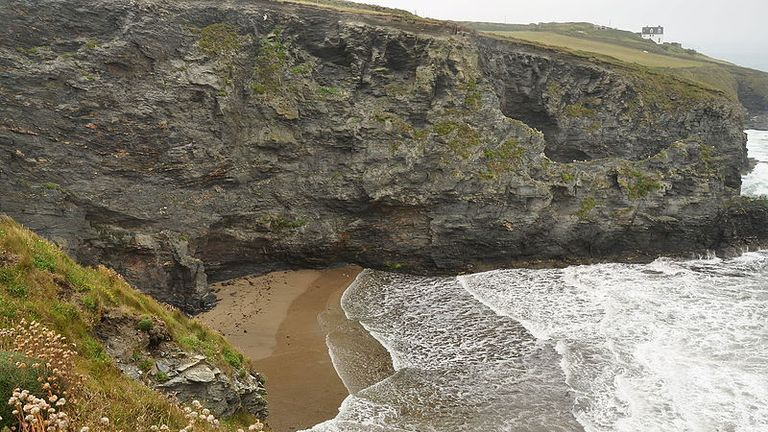 The incident happened at Parc Trammel Cove in Cornwall. File pic