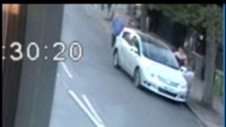 Police released CCTV images of the wanted motorist's car