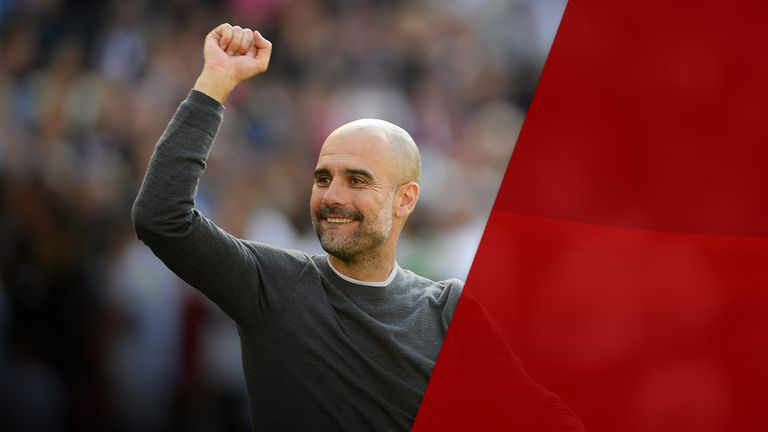 Pep Guardiola has led Manchester City to their second Premier League title in two seasons