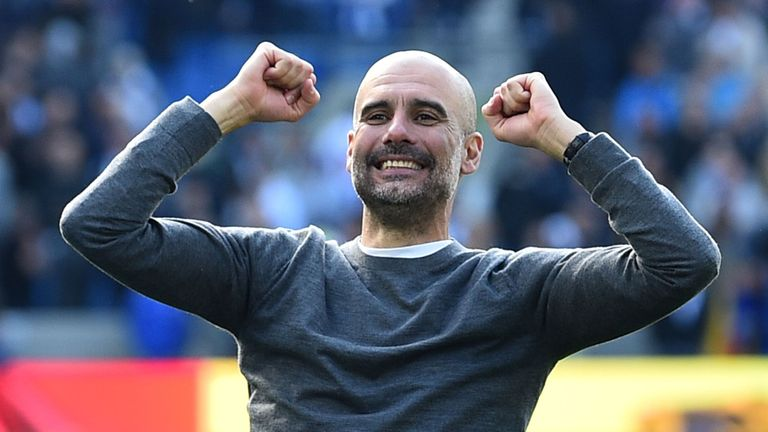 Guardiola could not hide his delight following the title win