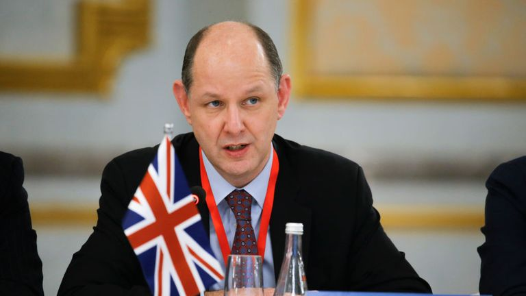 British diplomat Philip Barton travelled to Moscow earlier this month