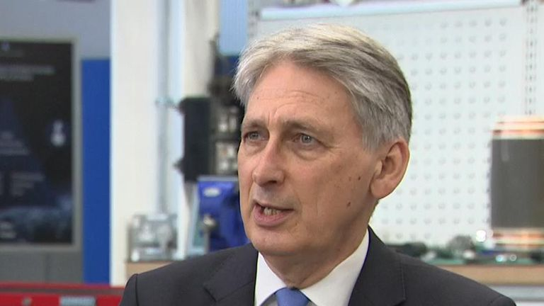 Philip Hammond 'optimistic' that US-China trade war will not escalate
