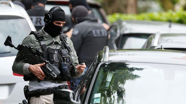 Police operation in Oullins, near Lyon
