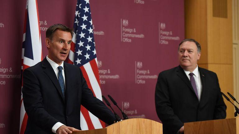 Risk of accidental US-Iran war, Hunt warns