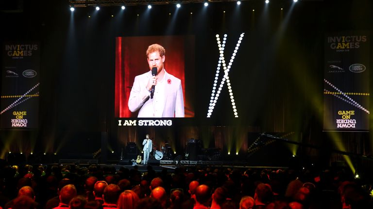 Prince Harry at Invictus Games in 2018