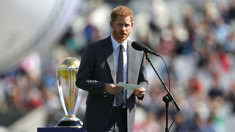 The Duke of Sussex opened the Cricket World Cup