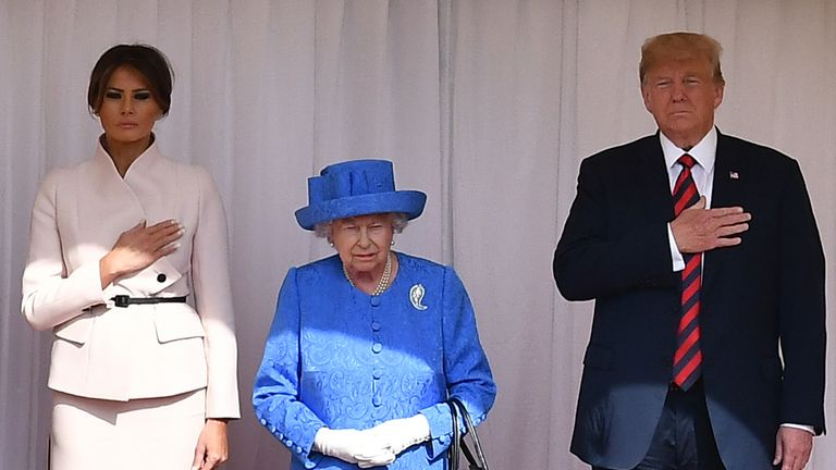 The Queen will host a State Banquet for the Trumps - a staple part of an official visit