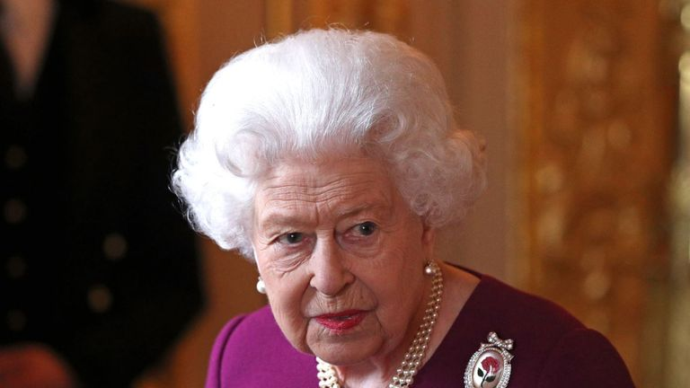 The Queen was hosting a function at Windsor Castle