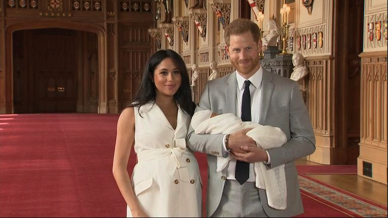 Harry and Meghan reveal their newborn son