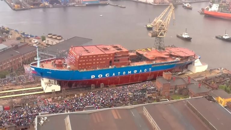 The ship will be able to carve through ice up to around three metres  (almost 10ft) thick