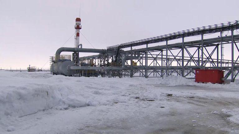 The Bovanenkovo gas field