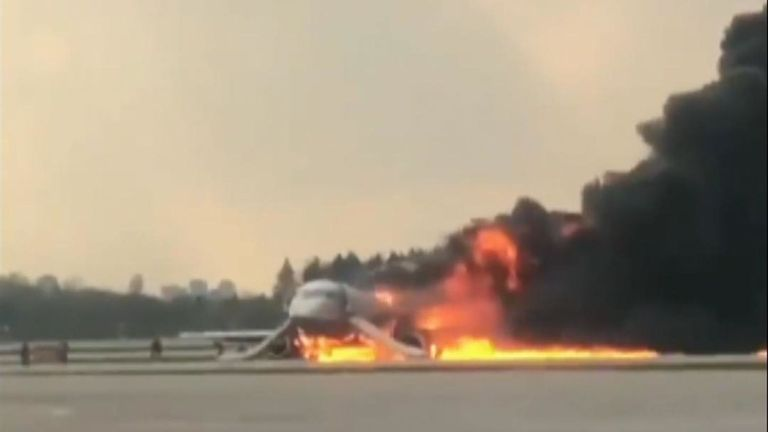 Fire on board Russian passenger plane kills 41