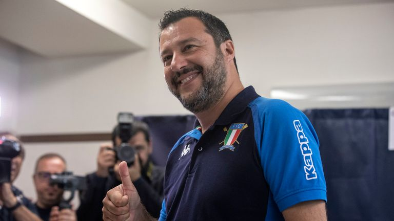 Matteo Salvini, leader of the League party