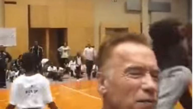 Schwarzenegger was attacked at an event in South Africa