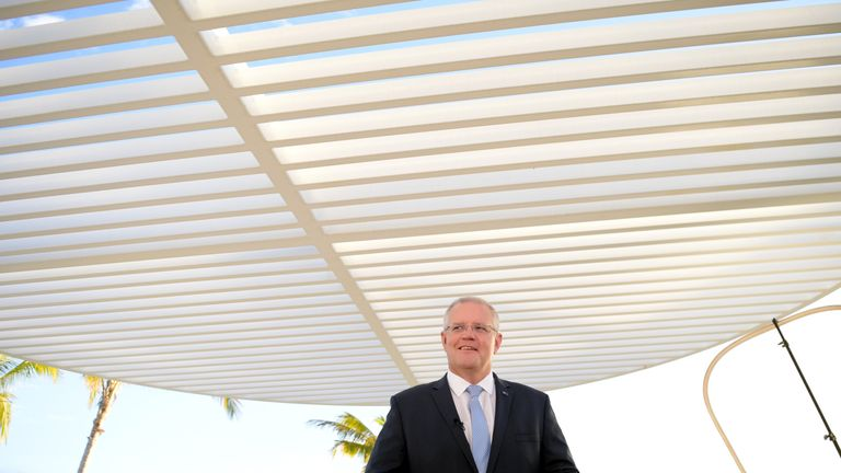 Australian Prime Minister Scott Morrison is hoping for a third term in government