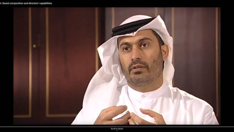 Sheikh bin Zayed Al Nehayan tried to buy Liverpool last year but the bid was 'not credible'. Pic: YouTube