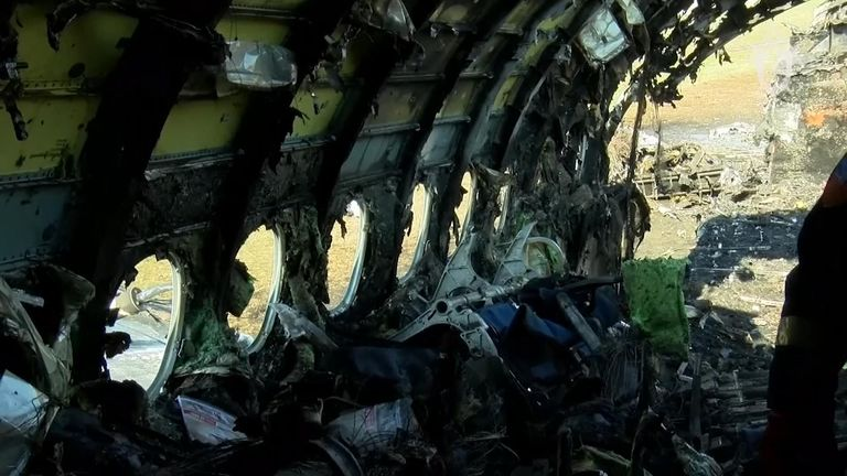 The inside of the jet