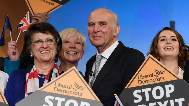 Sir Vince Cable launches the Liberal Democrats European election campaign