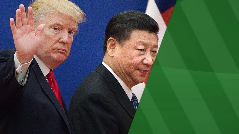 US President Donald Trump and China's President Xi Jinping