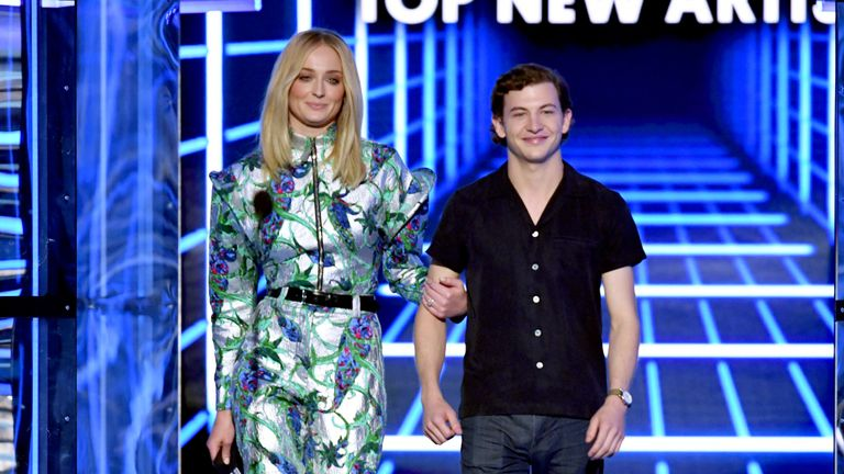 Sophie Turner and Tye Sheridan presented an award at the 2019 Billboard Music Awards