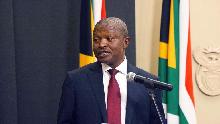 David Mabuza is sworn in as Deputy President at the South Parliament in Cape Town.