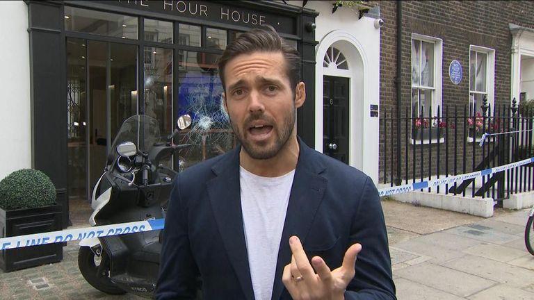 Reality TV star Spencer Matthews tells Sky News about his 'pretty scary' experience when he was caught up in a robbery.
