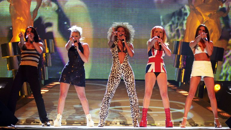 The Spice Girls at the Brit Awards in 1997