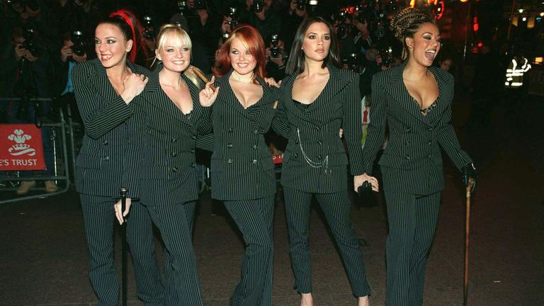 Spice Girls at the Spiceworld film premiere in London in 1997