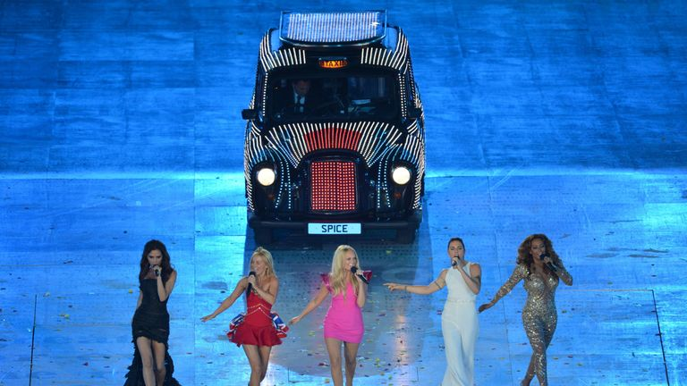 Spice Girls at the London 2012 Olympics