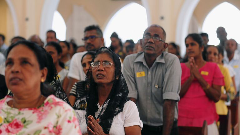 Sri Lanka churches hold first Sunday mass since bombings