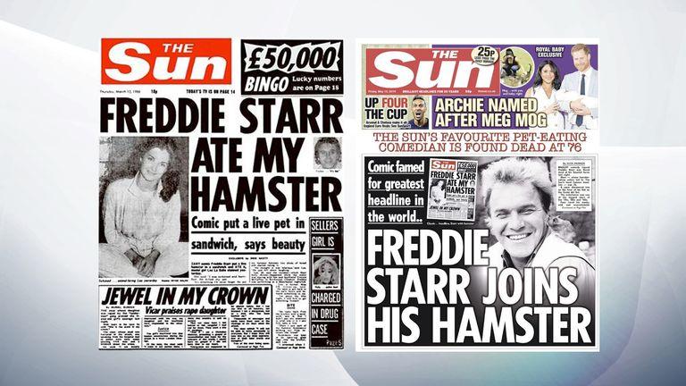 Freddie Starr: Ex-model reveals truth behind hamster