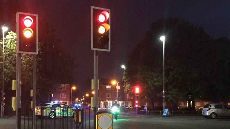 Police on scene in the Graiseley street area of Wolverhampton