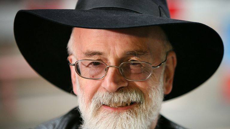 Terry Pratchett died in 2015 after a battle with Alzheimer's