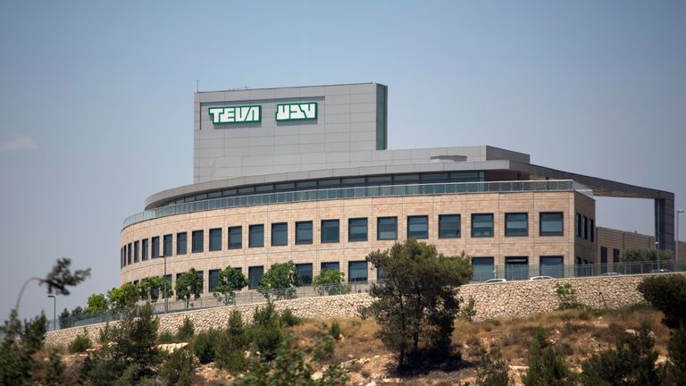 A picture taken on June 11, 2013 shows the outside of the factory of Israel's Pharmaceutical Industries Teva in Jerusalem. An investigation was opened in France following the death in Marseille of a 91 year-old man on June 8, after a TEVA packaging containing diuretic Furosemide tablets could have actually contained sleeping pills coming from an alleged mispacked lot. AFP PHOTO/MENAHEM KAHANA (Photo credit should read MENAHEM KAHANA/AFP/Getty Images)