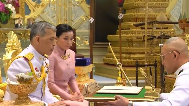 This is the fourth marriage for Vajiralongkorn, who became king after his father died in 2016
