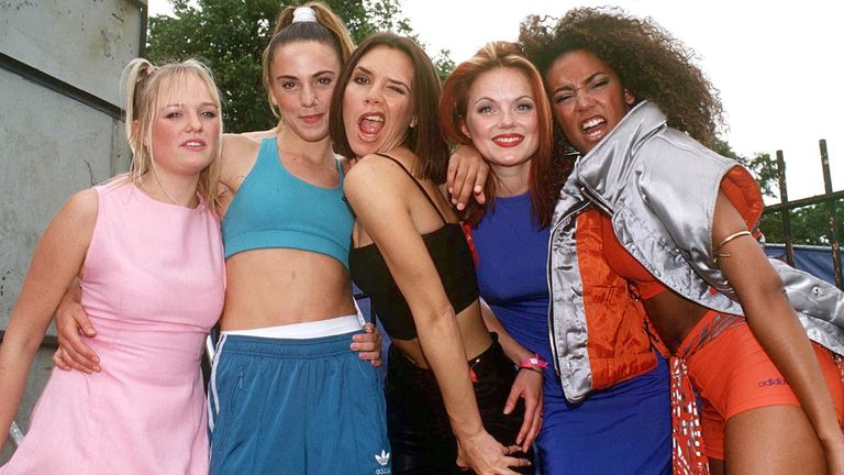 Capital Radio Summer Jam, Clapham Common, London, Britain - 1996 The Spice Girls - Emma Bunton, Mel C, Victoria Adams, Geri Halliwell and Mel B
