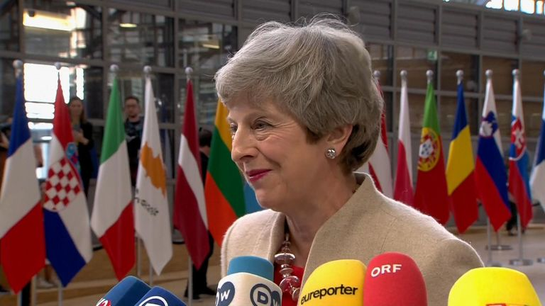 Theresa May has stressed Brexit is now a matter for her successor as she arrived at a European Union summit in Brussels.
